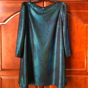 NWT Free People Textured Blue Dress. Size Medium.